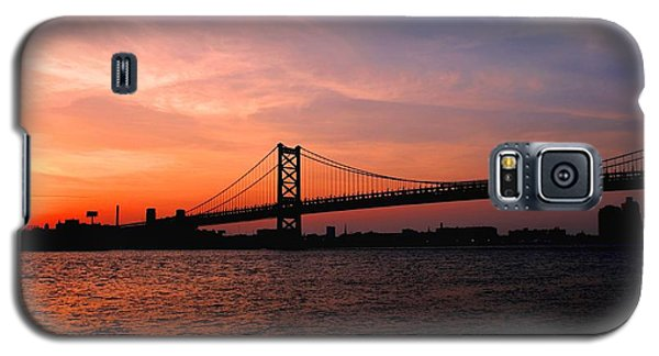 Ben Franklin Bridge Sunset Galaxy S5 Case