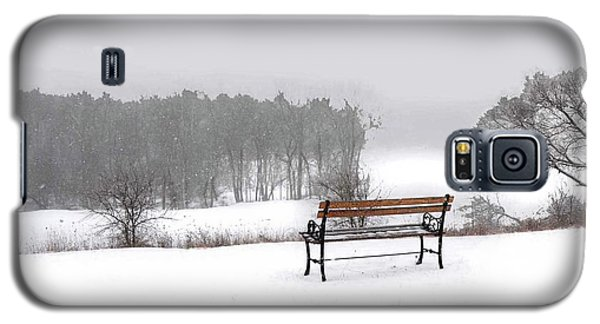 Bench In Snow Galaxy S5 Case