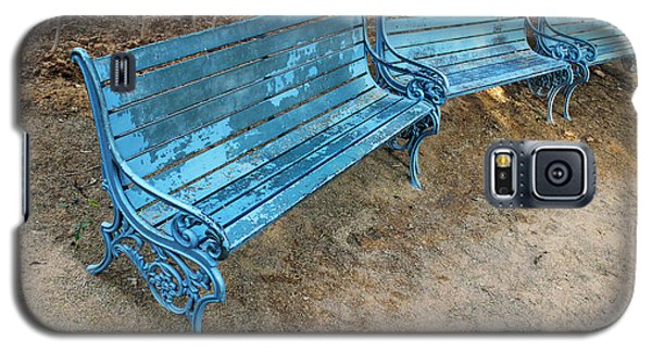 Galaxy S5 Case featuring the photograph Benches And Blues by Prakash Ghai