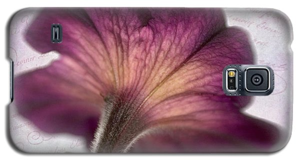 Galaxy S5 Case featuring the photograph Beneath A Dreamy Petunia by David and Carol Kelly