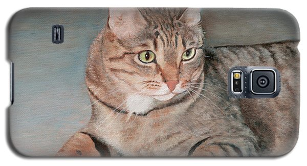 Galaxy S5 Case featuring the painting Bengal Cat by Joshua Martin