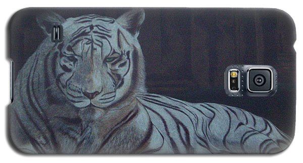 Galaxy S5 Case featuring the painting Bengala Tiger by Fanny Diaz