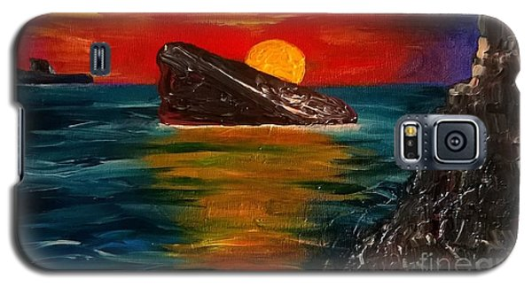 Galaxy S5 Case featuring the painting Benidorm by Jeepee Aero