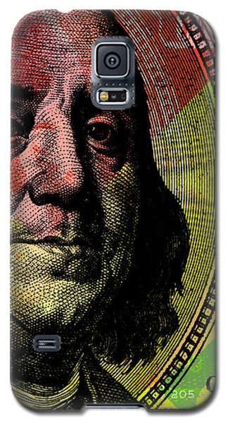 Benjamin Franklin - $100 Bill Galaxy S5 Case by Jean luc Comperat