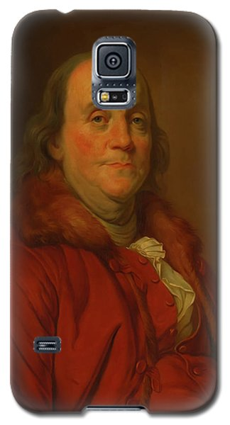 Galaxy S5 Case featuring the painting Benjamin Franklin by Workshop Of Joseph Duplessis