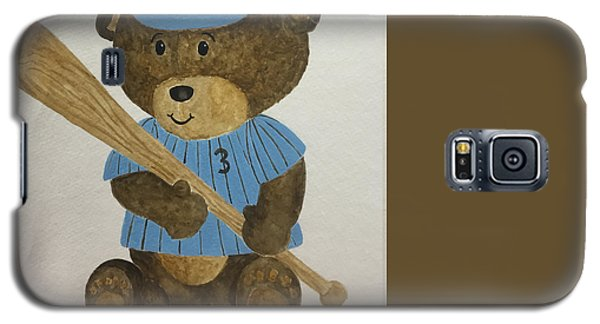 Galaxy S5 Case featuring the painting Benny Bear Baseball by Tamir Barkan