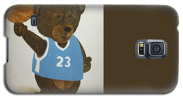 Galaxy S5 Case featuring the painting Benny Bear Basketball  by Tamir Barkan