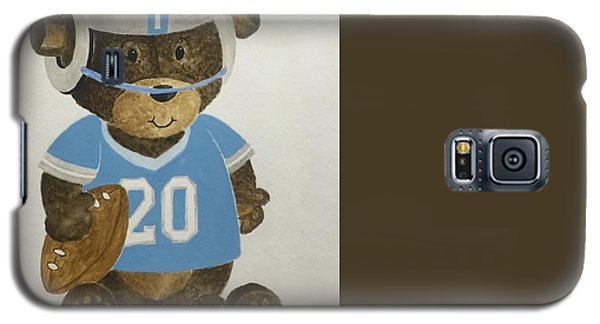 Galaxy S5 Case featuring the painting Benny Bear Football by Tamir Barkan