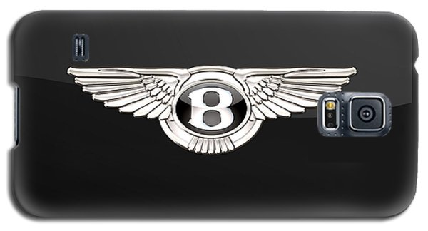 Bentley - 3 D Badge On Black Galaxy S5 Case
