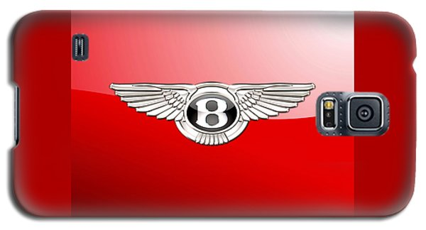 Bentley 3 D Badge On Red Galaxy S5 Case by Serge Averbukh