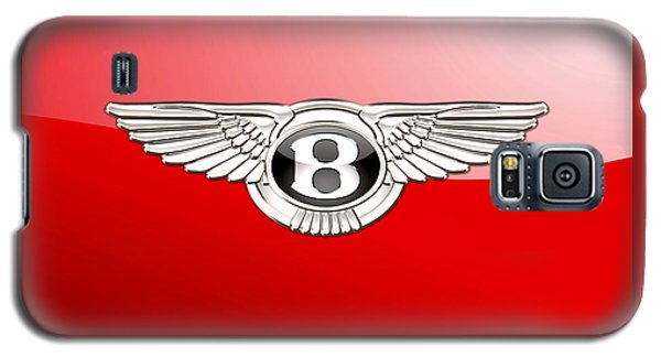 Bentley 3 D Badge On Red Galaxy S5 Case