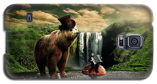 Galaxy S5 Case featuring the digital art Berlin Bear by Nathan Wright
