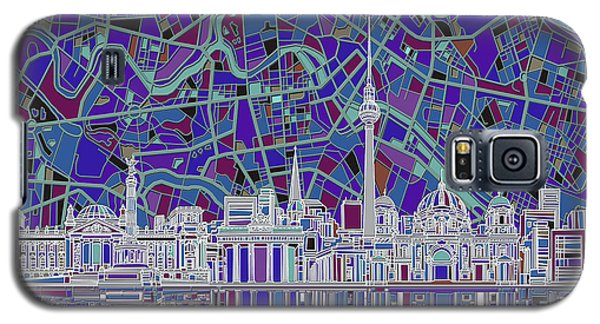 Berlin City Skyline Abstract 3 Galaxy S5 Case by Bekim Art