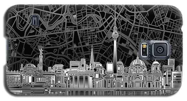 Berlin City Skyline Abstract 4 Galaxy S5 Case by Bekim Art