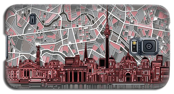Berlin City Skyline Abstract Galaxy S5 Case by Bekim Art