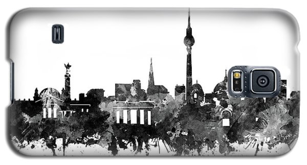 Berlin City Skyline Black And White Galaxy S5 Case by Bekim Art