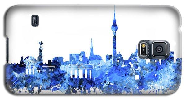 Berlin City Skyline Blue Galaxy S5 Case by Bekim Art