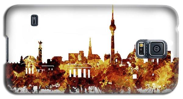 Berlin City Skyline Brown Galaxy S5 Case by Bekim Art