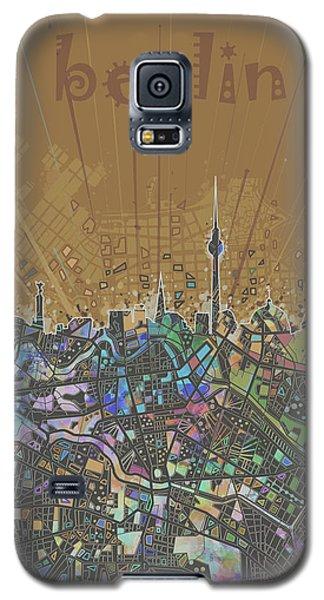 Berlin City Skyline Map 4 Galaxy S5 Case by Bekim Art