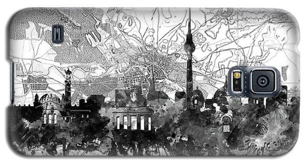 Berlin City Skyline Vintage 2 Galaxy S5 Case by Bekim Art