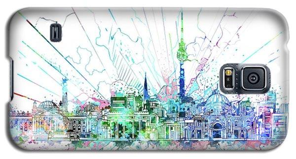 Berlin City Skyline Watercolor 3 Galaxy S5 Case by Bekim Art