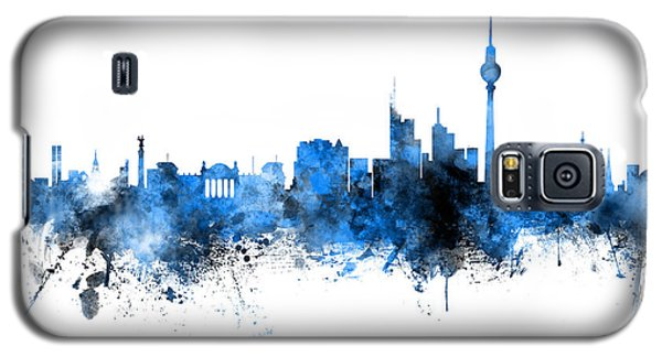 Berlin Galaxy S5 Case - Berlin Germany Skyline Blue Signed by Michael Tompsett