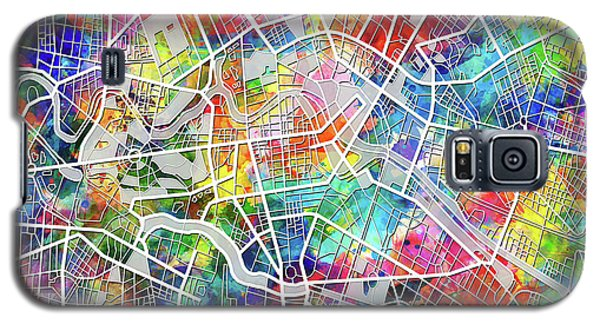 Berlin Map Watercolor Galaxy S5 Case by Bekim Art