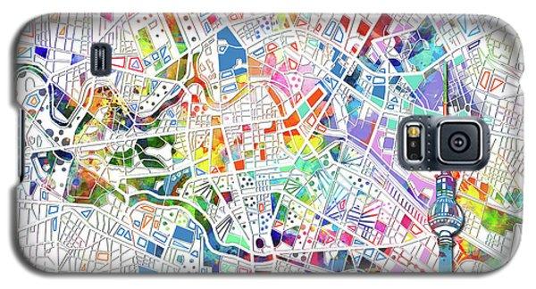 Berlin Map White Galaxy S5 Case by Bekim Art