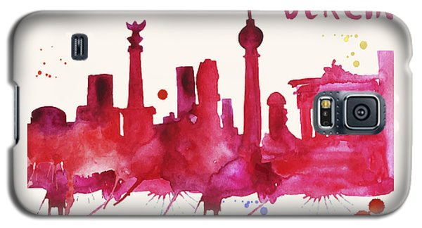 Berlin Skyline Watercolor Poster - Cityscape Painting Artwork Galaxy S5 Case
