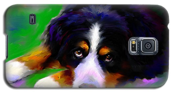 Bernese Mountain Dog Portrait Print Galaxy S5 Case