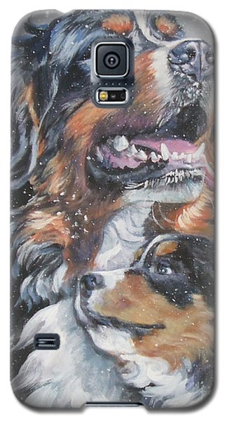 Bernese Mountain Dog With Pup Galaxy S5 Case