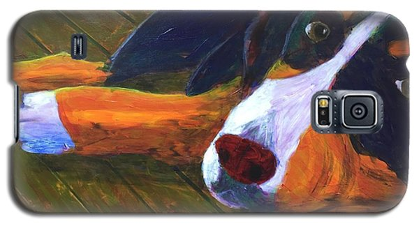 Bernese Mtn Dog On The Deck Galaxy S5 Case