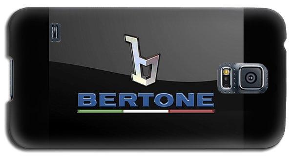Bertone - 3 D Badge On Black Galaxy S5 Case by Serge Averbukh