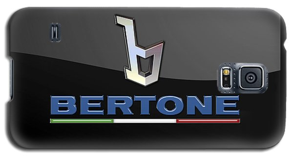 Bertone - 3 D Badge On Black Galaxy S5 Case