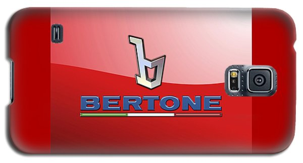 Bertone 3 D Badge On Red Galaxy S5 Case by Serge Averbukh
