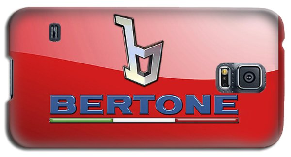Bertone 3 D Badge On Red Galaxy S5 Case