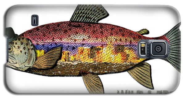 Galaxy S5 Case featuring the digital art Fishing - Best Caught Wild On Light by Elaine Ossipov