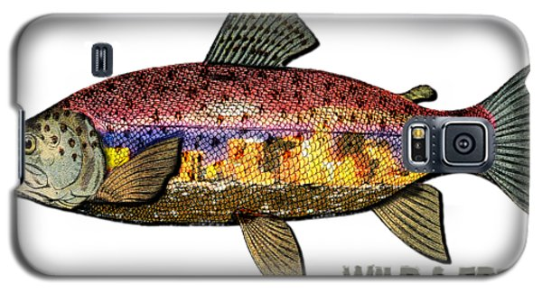 Galaxy S5 Case featuring the digital art Fishing - Best Caught Wild - On Light No Hat by Elaine Ossipov