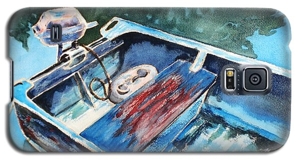Galaxy S5 Case featuring the painting Best Fishing Buddy by Marilyn Jacobson