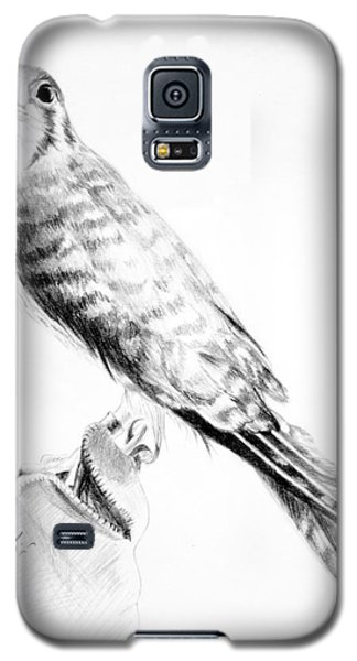 Galaxy S5 Case featuring the drawing Best Friend by Eleonora Perlic
