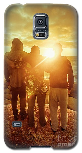 Galaxy S5 Case featuring the photograph Best Friends Greeting The Sun by Jorgo Photography - Wall Art Gallery