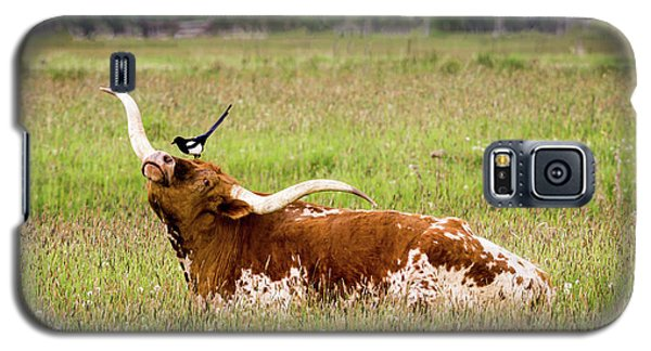 Best Friends - Texas Longhorn Magpie Galaxy S5 Case