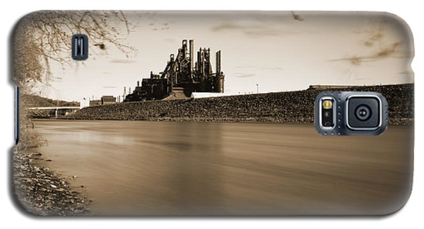 Bethlehem Steel Along The Lehigh Galaxy S5 Case by Jennifer Ancker