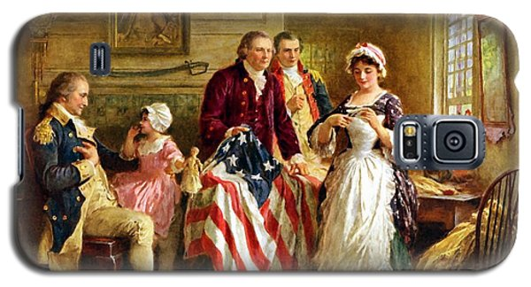 Betsy Ross And General George Washington Galaxy S5 Case by War Is Hell Store