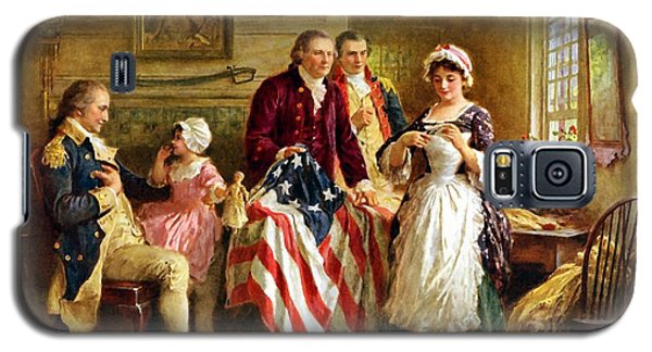 Politicians Galaxy S5 Case - Betsy Ross And General George Washington by War Is Hell Store