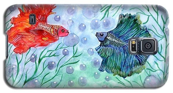 Galaxy S5 Case featuring the painting Betta Magic by Saranya Haridasan