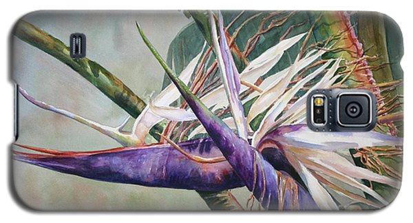 Galaxy S5 Case featuring the painting Betty's Bird - Bird Of Paradise by Roxanne Tobaison