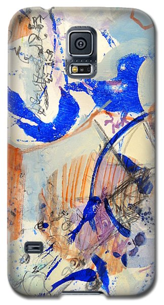 Galaxy S5 Case featuring the mixed media Between Branches by Mary Schiros