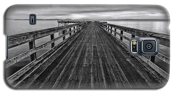 Bevan Fishing Pier - Black And White Galaxy S5 Case