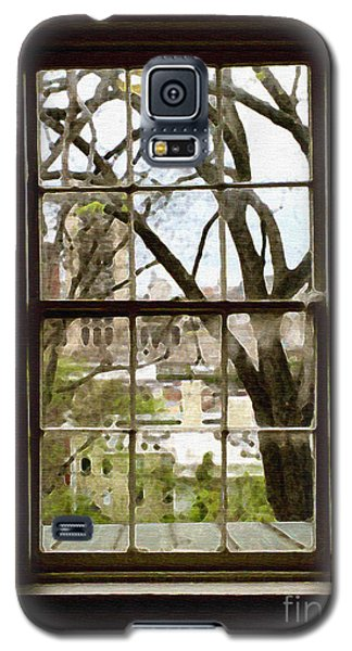 Galaxy S5 Case featuring the photograph Beyond The Window Sill by Linda Mesibov